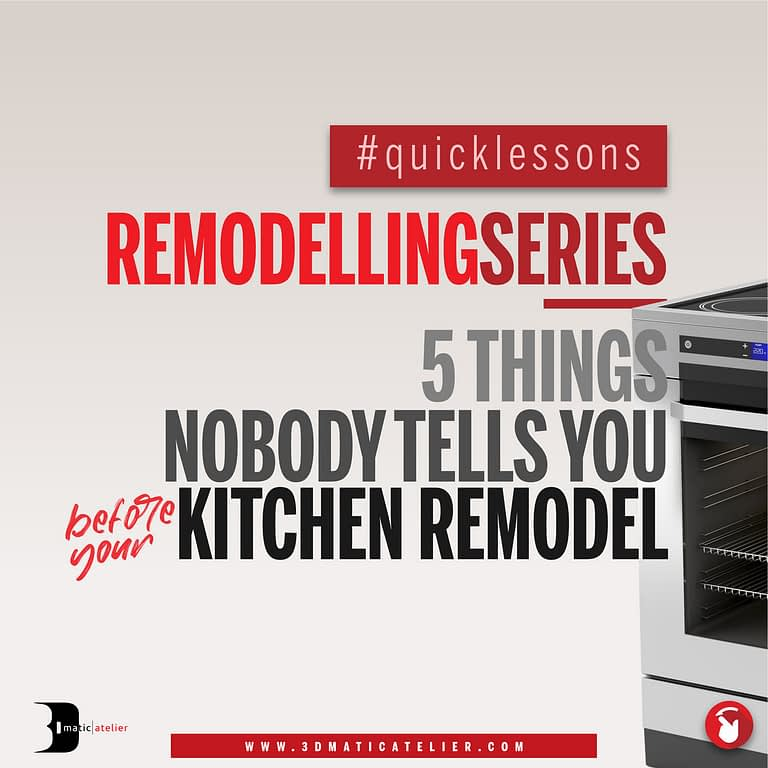 5 Things No One Tells You Before Your Kitchen Remodel